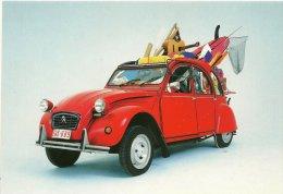 AUTO AUTOMOBILE CITROEN 2 CV  ROUGE  JE PAY&GO PUBLICITE BOOMERANG BELGIQUE - Turismo