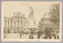 Foto ~1890 France Paris Place De La Republique #160 - Anciennes (Av. 1900)
