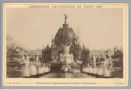 Foto ~1889 France ParisExposition Universelle Fontaines Luminenes Et Dôme D?honneur B.K. Edit - Photos