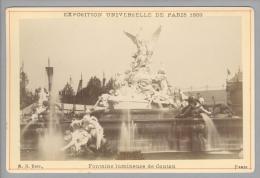 Foto ~1889 France Paris Exposition Universelle Fontaines Luminenes De Coutan B.K. - Photos