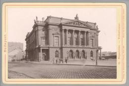 """Foto ~1887 Ungarn Budapest Volkstheater """"Karlmann & Franke"""" - Anciennes (Av. 1900)"""