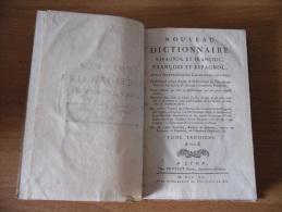 Settecentina Dizionario Antico Francese Spagnolo Francois Et Espagnol A-k. - Dizionari