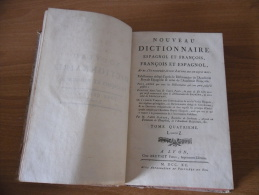 Settecentina Dizionario Antico Francese Spagnolo Francois Et Espagnol L-z. - Dizionari