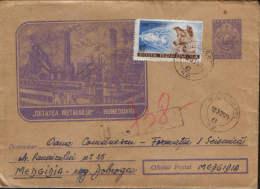 Romania-Postal Stationery Cover Circulated In 1961-Furnace Steelmaking In Hunedoara - Interi Postali