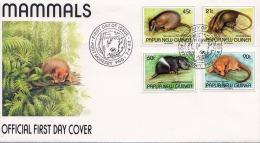 New Guinea 1993, FDC Satzfrankierung Auf Brief, First Day Of Issue Port Moresby - Briefmarken