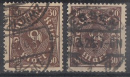 DR Minr.231 Verschiedene Farben Gestempelt 1 Marke Lochung - Deutschland