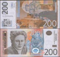 SERBIA 200 Dinara 2013 , P-New , UNC ,  Sing. Jorgovanka Tabakovic - Serbien