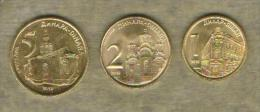 Serbia Lot ( 1 , 2 And 5 )dinara 2013 UNC / BU - Serbia