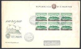 RARE Bloc Europa 1961 Sur Enveloppe FDC - FDC
