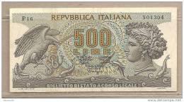 Italia - Banconota QFDS Da500 Lire - 1967 - [ 2] 1946-… : Repubblica