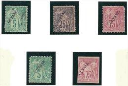 Lot De Timbres Entre 1892et 1912 - 4 Scans - Usati