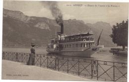 ANNECY / DEPART DU VAPEUR LA FRANCE - Annecy