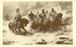 Kunstkaart - Adolphe Schreyer - Charge Of Arabs - Peintures & Tableaux