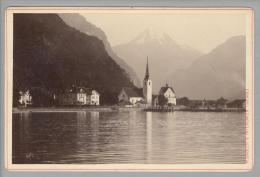 """Foto ~1890 CH Uri Flühlen #1416 """"A.Gabler"""" - Fotos"""