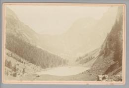 "Foto ~1890 CH GL Filzbach Thalalpsee ""Jean Braschler Wetzikon"" - Photographs"