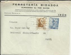 IRUN GUIPUZCOA CC SELLOS FRANCO - 1931-Aujourd'hui: II. République - ....Juan Carlos I