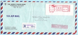 JAPAN JAPON AFS Freistempel R- Brief Registered Meter Cover 00,740 -26.11.79 Kyobashi Tori -Shoko Chukin Bank (29089)FFF - 1926-89 Kaiser Hirohito (Showa Era)
