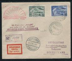 ENV. REC PA N°28 ET PA N°30 U.R.S.S. OBLIT BRISE BRASE MALYGIN 18/VII/1931 + REEXPEDITION PAR ZEPPELIN TRES RARE SUPERBE - 1923-1991 URSS