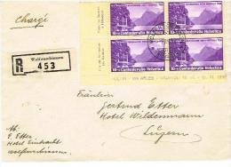 LETTRE SUISSE .  WOLFENSCHIESSEN . Pour  . LUZERN  .du  . 1  . 7 . 1938  . - Storia Postale