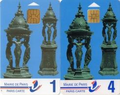 PARIS CARTE   Fontaines  Wallace 1 & 4   ( Lot De 2) - Francia