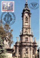 AUTRICHE. N°1754 Sur Carte Maximum (Maximum Card) De 1988. Abbaye De Zwettl. - Churches & Cathedrals