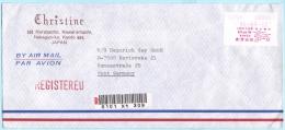 JAPAN JAPON AFS Freistempel R- Brief Registered Meter Cover *520 - 22.04.86 Osaka - CHRISTINE (29099) FFF - Briefe U. Dokumente