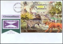 Grenada Grenadines 2005 Sheet/4 Dinosaur Prehistoric #2578-Psitticosaurus First Day Cover - Grenada (1974-...)