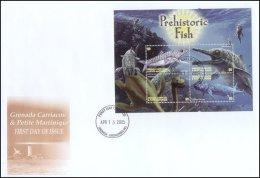 Grenada Grenadines 2005 Sheet/4 Dinosaur Prehistoric #2598-Eurypholis First Day Cover - Grenada (1974-...)