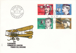 Switzerland FDC Scott #620-#623 Set Of 4 Swiss Aviation Pioneers - FDC