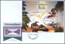 Grenada Grenadines 2005 Sheet/4 Dinosaur Prehistoric #2599-Pterosaurus First Day Cover - Grenada (1974-...)