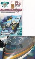 JORDAN(chip) - Royal Jordanian 3, tirage 50000, 12/98, used