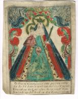 """IMAGE RELIGIEUSE Sur Vélin, Colorisée, 11,3 X 8,8 Cm, """"Maria"""" - Devotieprenten"""