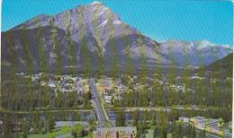 Banff With Cascade Mountain Alberta Canada