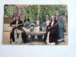 Carte Postale Ancienne : TURKMENISTAN : TCHARDJOUI , Sartes Musicians , With Stamp - Turkménistan