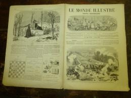 1871  LE MONDE ILLUSTRE :Révolution ; Pont De Neuilly; Auteuil;Proclamation De La COMMUNE à L´Hôtel-de-Ville (gravure) - 1850 - 1899