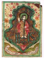 """IMAGE RELIGIEUSE Sur Vélin, Colorisée, 12,2 X 8,7 Cm, """"Ce Nom Doit être Adoré En Joye Et Adversité"""" - Images Religieuses"""