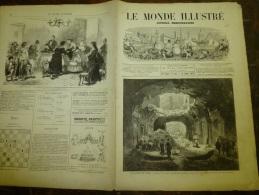8.7.1871  LE MONDE ILLUSTRE :Révolution ;Bienfaisance à Issy; Désastre à LYON;L´armée à Longchamps;METZ; - 1850 - 1899
