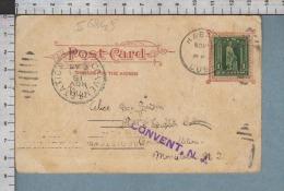 S6849 CUBA POSTAL HISTORY 1 CENTAVO TO NEW JERSEY PC NEW YORK CITY WILLIAMSBURG BRIDGE - Cuba