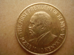 KENYA 1971 FIVE CENTS   KENYATTA Nickel-Brass  USED COIN In UNCIRCULATED CONDITION. - Kenya