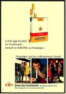 Reklame Werbeanzeige 1968 ,  Krone Zigaretten  -  Vergnügen Und Ein Vollkommener Genuß - Raucherutensilien (ausser Tabak)