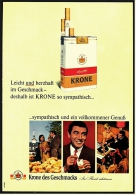 Reklame Werbeanzeige 1968 ,  Krone Zigaretten  -  Sympathisch Und Ein Vollkommener Genuß - Ohne Zuordnung