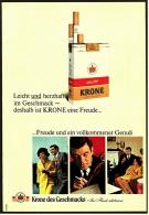 Reklame Werbeanzeige 1968 ,  Krone Zigaretten  -  Freude Und Ein Vollkommener Genuß - Raucherutensilien (ausser Tabak)