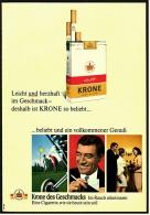 Reklame Werbeanzeige 1968 ,  Krone Zigaretten  -  Beliebt Und Ein Vollkommener Genuß - Ohne Zuordnung