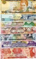 Honduras Banknotes Set 1 2 5 10 20 50 100 Lempiras UNC Polymer - Honduras