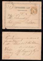 Ungarn Hungary 1872 Postcard Stationery PÜSPÖK LADANY - Covers & Documents