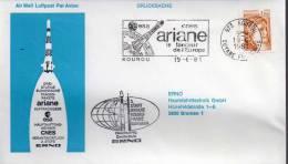 ★ FRANCE- ARIANE - ERNO - KOUROU 19/06/81 (A046) - FDC & Commemoratives