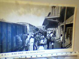 Colonie ITALIA AOI AFRICA ORIENTALE ITALIANA Dire Daua STAZIONE ANIMATA MILITARI Treno TRAIN N1935 EG611 - Stazioni Con Treni