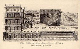 [DC8280] VERONA - VEDUTA DELL'ANTICO TEATRO ROMANO - SEC. XVII - Old Postcard - Verona
