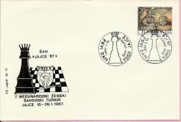 7th International Women Chess Tournament - Jajce '87, Jajce, 10.1.1987., Yugoslavia, Cover - Schaken
