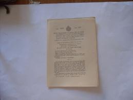 PERSONALE FERROVIE DELLO STATO AMMINISTRAZIONE EPIDEMIA INFLUENZALE  REGIO DECRETO 1919. - Gesetze & Erlasse